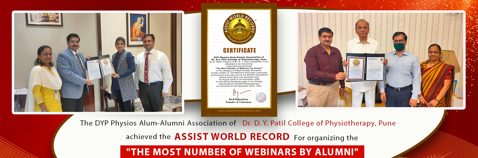 ASSIST WORLD RECORD For organizing the 'THE MOST NUMBER OF WEBINARS BY ALUMNI'